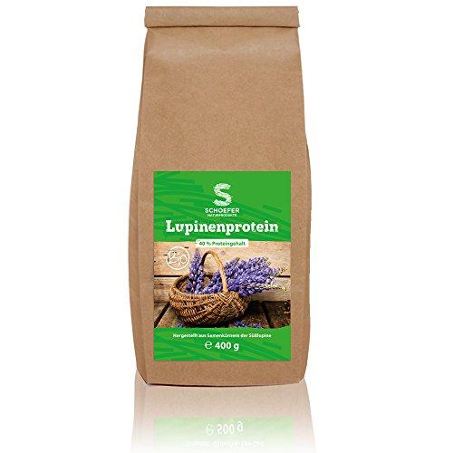 (Veganes Bio Lupinenprotein - Ideal für Proteinshakes und zum Backen - Ohne Zusatzstoffe & Zucker, Laktosefrei - 400g)