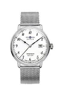 Zeppelin Watches 7046M-1 - Reloj analógico de Cuarzo para Hombre, Correa de Acero Inoxidable de Zeppelin Watches