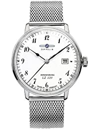 Zeppelin Herren-Armbanduhr Hindenburg Analog Quarz Edelstahl 7046M