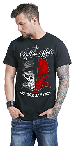 Five Finger Death Punch Jekyll and Hyde T-Shirt Schwarz Schwarz