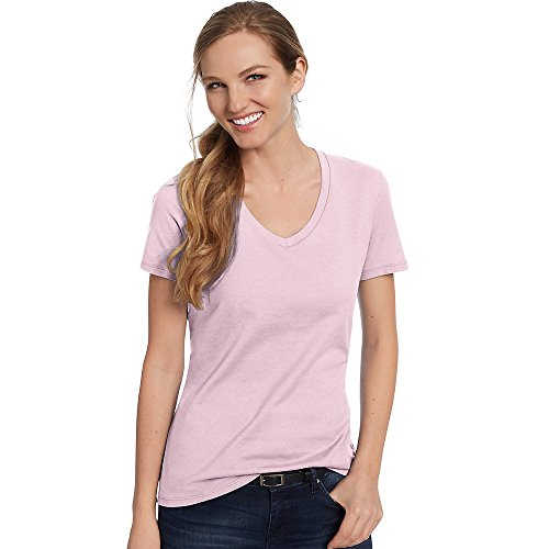 Hanes T-shirt nano-t à col en V pour homme rose pâle
