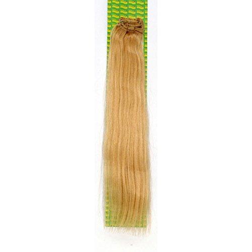 'Dream Hair Extensions à clip Lot de 8 Pièces lisse 22/56 cm blond doré cheveux naturels