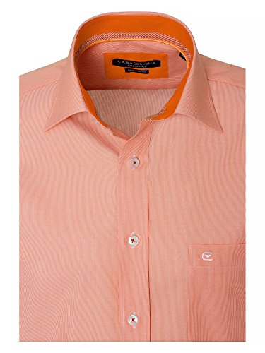 CASAMODA Herren Businesshemd 100% Baumwolle Regular Fit Hellorange