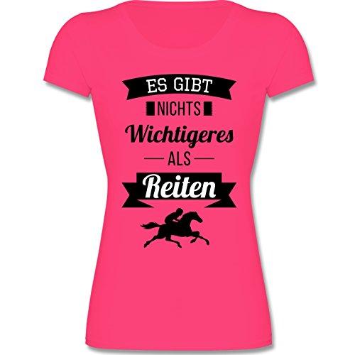 Shirtracer Sport Kind - ES Gibt Nichts Wichtigeres Als Reiten - 152 (12-13 Jahre) - Fuchsia - F288K - Mädchen T-Shirt (Nichts T-shirt Mädchen)