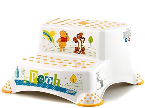 """keeeper 10032100084 igor """"winnie the pooh"""" tritthocker zweistufig mit anti-rutsch-funktion weiß"""