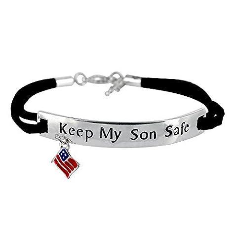 Gardez Mon fils Safe Drapeau Bracelet à breloques