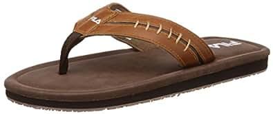 Fila Men's Ocean li Brown and Camel Flip Flops Thong Sandals -10 UK/India (44 EU)