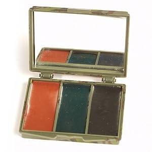 Boîte crèmes camouflage 3 couleurs - Vert, noir, marron - Miltec