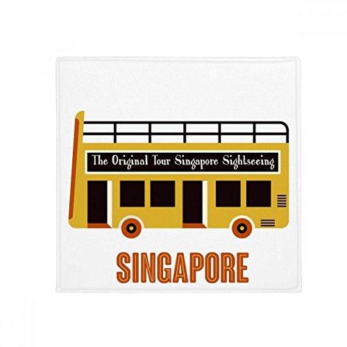 DIYthinker Singapur Sightseeing Shuttle Bus Anti-Rutsch Boden Pet Matte quadratisch Home Kitchen Tür 80cm Geschenk -