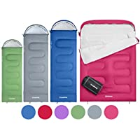 KingCamp Oasis 3 Season Sleeping Bag 4 Available Sizes (Child, Adult, Extra-Large & Extra-Large Double) in 6 Colours for Camping & Outdoors