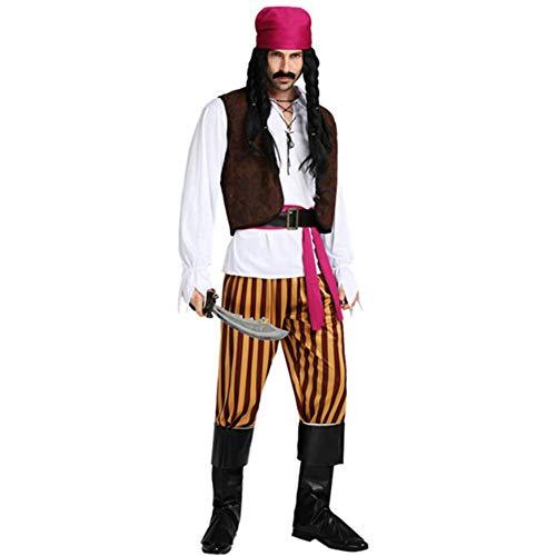 Männliche Piraten Kostüm - GUAN Halloween spielt Kostüm Piratenkapitän Anzug Piratenkostüm männlicher Pirat