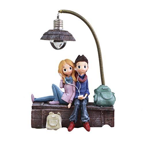 Vosarea Mini Kunstharz Kopfhörer Paar Lampe Wohnzimmer Schlafzimmer Dekorationen Basteln Geschenke für Home Lovers Party Valentine 's Day (C) (Dekorationen Home-wohnzimmer)