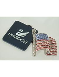 Swarovski Brosche USA Flagge brooch AP