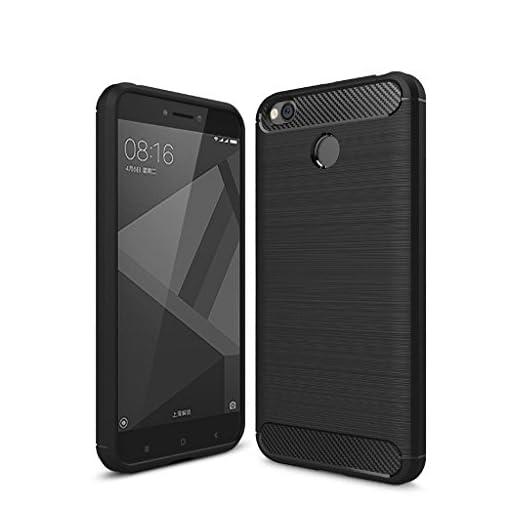 qualstuff stylish black back cover for redmi 4 - 41FoinGTaBL - Qualstuff Stylish Black Back Cover For Redmi 4