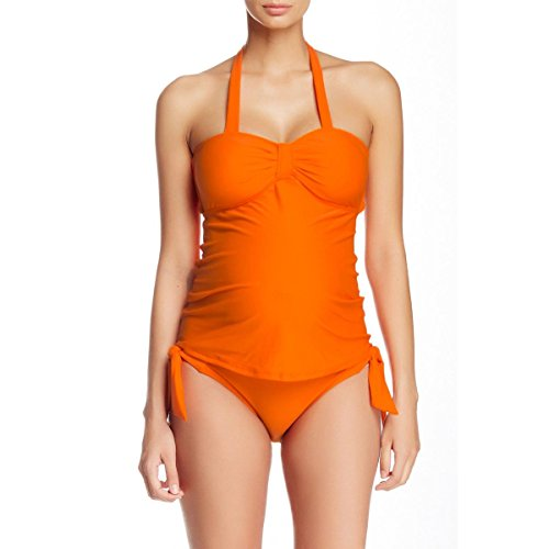Maternal America Damen Schwangerschafts-Tankini Sweetheart 2-teilig - Orange - Large