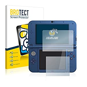 BROTECT Panzerglas Schutzfolie kompatibel mit Nintendo New 3DS XL – AirGlass, 9H Härte, Anti-Fingerprint, HD-Clear