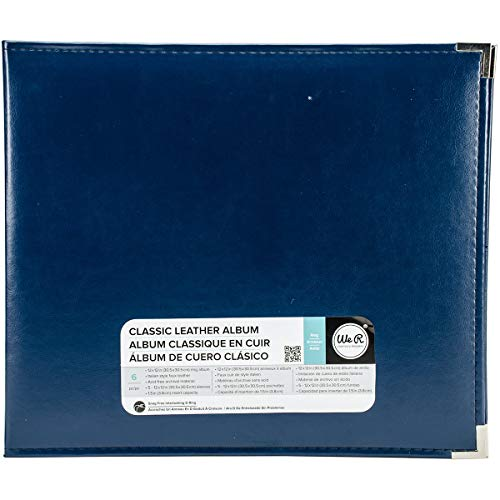 We R Memory Keepers Classic Leder 3 Ring Album 12 Zoll x 12 Zoll Cobalt -