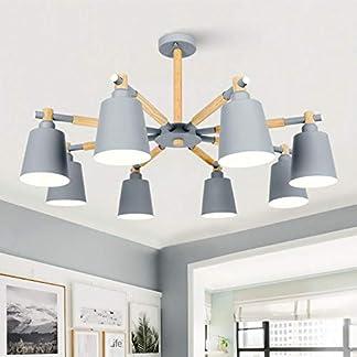 Nordic lampadario E27 Con Ferro paralume For Living Sala da pranzo sospensione apparecchio Infissi Lamparas Colgantes Luster legno