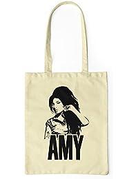 """Bolsa de tela """"Amy Winehouse"""" - tote bag shopping bag 100% algodón LaMAGLIERIA, Natural"""