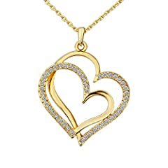 Idea Regalo - Broadroot vero oro 18K con Pendente a forma di cuore per donne