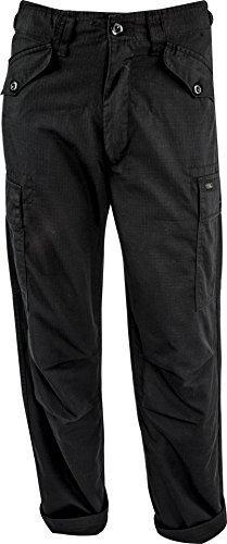 highlander-hardwearing-rip-stop-m65-military-style-mens-trousers-black-khaki-olive-waist-32-black