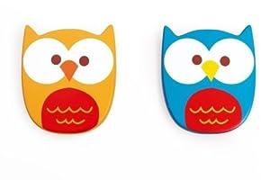 Scratch- Juguetes electrónicosInstrumentos Musicales para niñosSCRATCHScratch Music: Shaker Owl Lou 7.5x9x2cm, 2 Colors, in Display, 12m