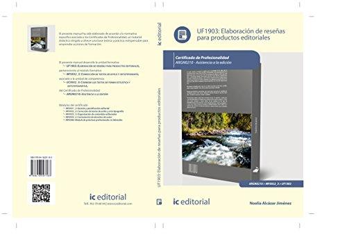 Elaboración de reseñas para productos editoriales. argn0210 - asistencia a la edición