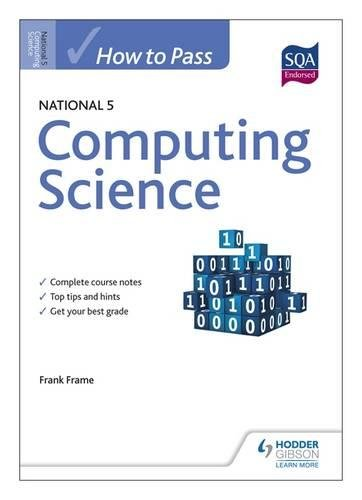 How to Pass National 5 Computing Science (HTP5)