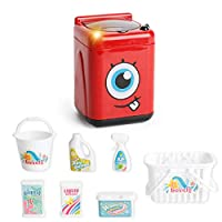 MOGOI Microwave Oven Kitchen Play Set, Kids Children Toddlers Pretend Play Kit with Fake Food Included, Great for Toddlers 3 Years and Older