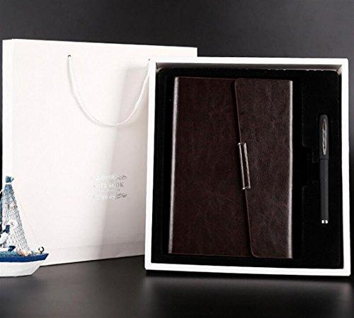 Sun Glower Büro Schulbedarf Luxus Schreibset Set Notebook Pen Set für Studenten (Dunkelbraun) Briefpapier Geschenkset