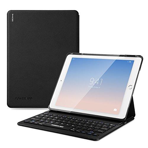 POWERADD iPad Air 2 & iPad Pro 9.7 del Año 2017 Funda con Teclado Bluetooth,...