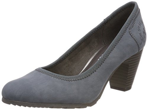 s.Oliver Damen 22404 Pumps, Blau (Denim), 36 EU