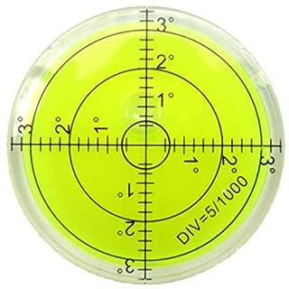 Acrylic 60x12mm Bullseye Spirit Level Bubble Round (Green)