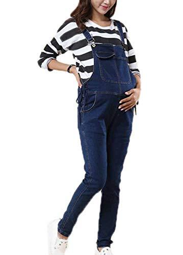 Huateng Mujeres Embarazadas Correa Moda Jeans Babero