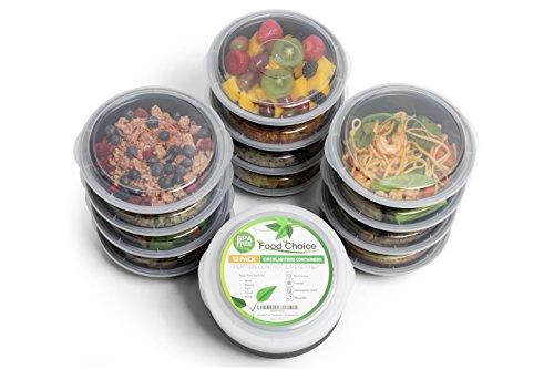 Contenitori per alimenti con coperchio per pranzo, controllo porzioni e