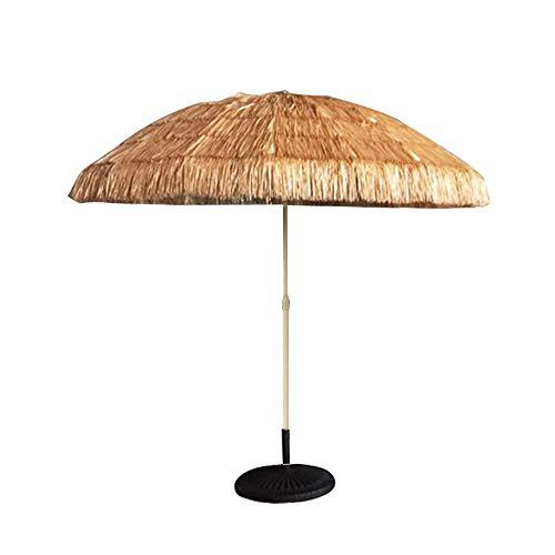 Kuwd ombrello hiki thatched tiki, ombrelloni hawaiani, 8 costole, design rotondo, perfetto per spiagge, bar, terrazze, ponti, giardini.