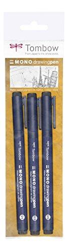 Tombow WS della efl-3P fine Liner in larghezze di tratto 01, 03, 053pezzi in un sacchetto di cellophane