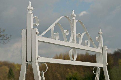 CLP 2 Sitzer / 3 Sitzer Garten Hollywoodschaukel AIMEE, Landhaus-Stil, Metall (Eisen) antik-weiß - 4