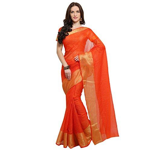 Rajnandini Cotton Silk Saree (Joplsrs1021E_Orange)