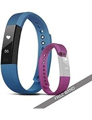 Fitness Tracker con Tensiómetro, Ever Shop Ipx67 Impermeable Fitness Tracker Reloj con Monitor de frecuencia