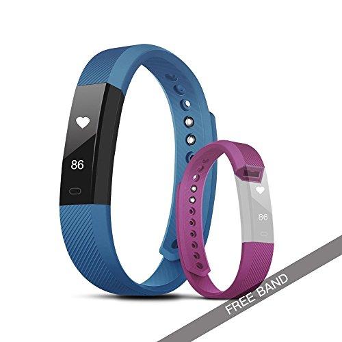 Evershop Wasserdicht Fitness Activity Tracker, Sports Bluetooth Armband Tracker mit Herzfrequenz Monitor/Kalorienzähler/Sleep Monitor/Call Benachrichtigung Push für iOS und Android