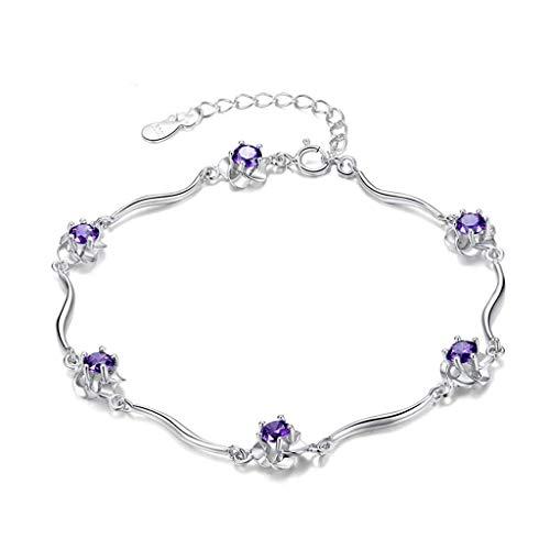 LSY Exquisite Pfirsich Armband Mädchen 925 Silber Korean Silber Schmuck Sweet Fashion Armband Geburtstagsgeschenk Zubehör (Schmuck Silber 16 Sweet)