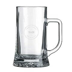 Idea Regalo - YourSurprise Boccale di Birra Personalizzato con Nome - Boccale di Birra inciso con Nome: Personalizzabile con Testo, Diversi Designe Caratteri