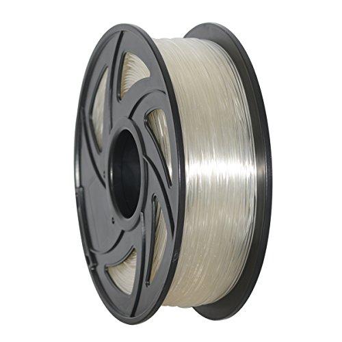 GEEETECH Filament PLA 1.75mm for 3D Drucker 1kg Spool, Transparent