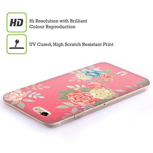 Head Case Designs Frühling Nostalgische Rosenmuster Soft Gel Hülle für Apple iPhone 4 / 4S Blüten In Pink
