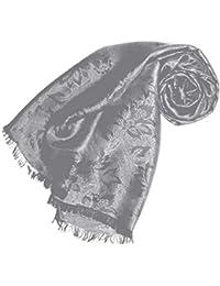 cc700c08286c Écharpe élégante en tissu damassé et soie - Motif floral - 55 ...