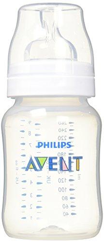 Philips Avent SCF563/17 - Biberón Classic+ de 260 ml, tetina de flujo para recién nacidos, anticólico, color Azul transparente