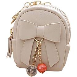 Alaso - Bolso pequeño para guardar toallas higiénicas, bonito bolso organizador de viaje con cremallera beige Talla única