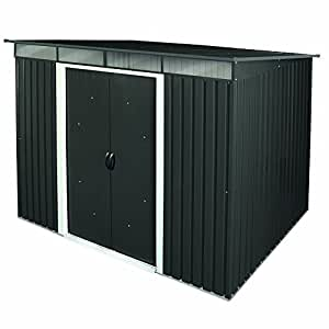 tepro metallger tehaus 8x6 anthrazit pent roof skylight 7238 garten. Black Bedroom Furniture Sets. Home Design Ideas