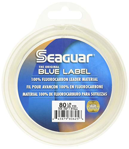 Seaguar Fluorocarbon Leader Line Spool 12lb 25yd Blue Label 100% 25yds 12FC25 -
